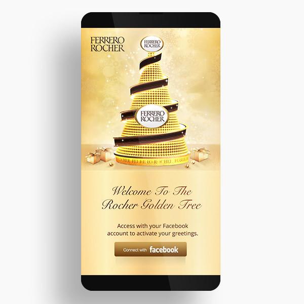 Ferrero Rocher Golden Tree